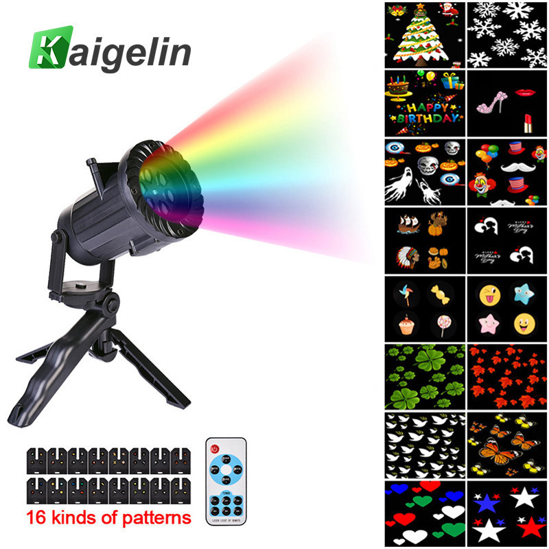 DHL Free Shipping 16 Pattern Christmas Laser Snowflake Projector LED Outdoor Waterproof Home Garden Star Light Indoor Decoration<br>