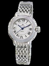 b4d719ce5f1 Royal Crown joyería reloj 6119 s Italia marca diamante Japón MIYOTA Acero  inoxidable platino señora hora