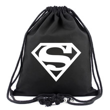 2017 New Super Man Canvas Drawstring BagsFor Travel Superman Backpacks For Teenagers Boy Girls Schoolbags Super Hero Fans Bags(China)