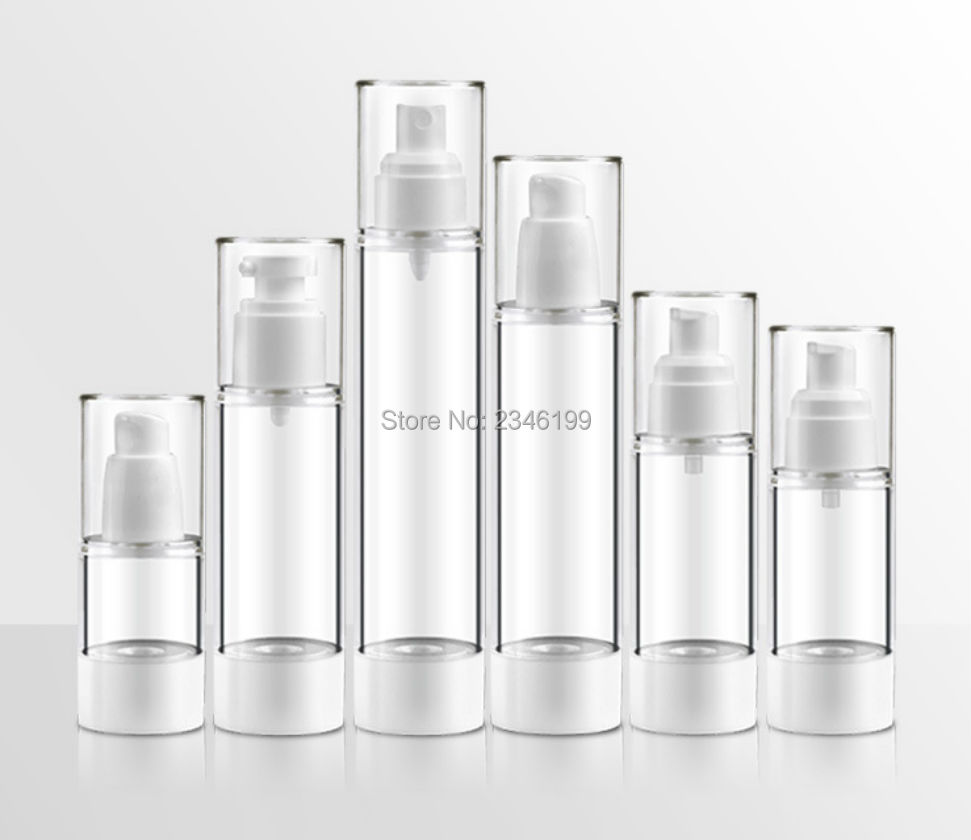 Dewarflask Plastic Bottle Transparent Spray Emulsion Bottle Lotion Pump Vacuum Spray Bottle Travel Bottling 20pcsLot (4)