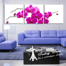 Home Decor Hanging Wall Canvas Paintings Picture Printed On Canvas,Free Shipping Purple Orchid In Heart Are Perfect Looking Art