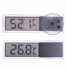 Osculum Type Car Thermometer -20 to 110 Celsius Degree LCD Vehicle-mounted Digital Thermometer Celsius Fahrenheit w/ Battery(China)
