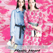 Crisp organza jacquard fashion fabric double jacquard yarn dyed fabric jacquard dress fabric wholesale polyester jacquard fabric