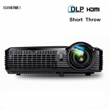 300inch 5500ANSI short throw Movie Home Theater Outdoor DLP 3D Multimedia Cinema Film VGA Digital 1080P Video Projector Beame