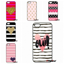 For Xiaomi Redmi Note 2 3 3S 4 Pro Mi3 Mi4i Mi4C Mi5S MAX iPod Touch 4 5 6 Pink Rose Heart With Stripes Hard Phone Case Cover(China)