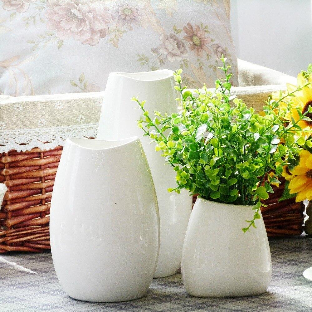 Небольшие керамические вазы, белый ваза для дома и магазин украшения(China (Mainland))
