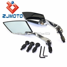 Black Side Mirrors Rear View Mirrors For Honda Motorcycle Cruiser ATV UTV Universal Aluminum Rear Mirror Side Mirror