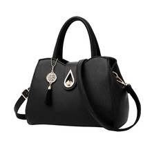 Women Tassel Pendant Handbag Water Droplets Sequined Messenger Bag High Capacity Shell Shoulder Bag Female Brand Designer(China)