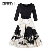 Zipipiyf-Spring-Autumn-Women-Vintage-Dress-Fashion-Solid-Half-Sleeves-Elegant-V-Neck-Party-Vestidos.jpg_200x200