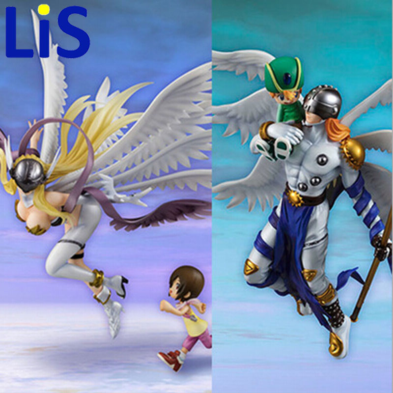 (Lis)Digital Monster Digimon Figure Angemon Angewomon PVC Action Figure Digimon Colletion Model Toy<br>