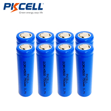 8pcs PKCELL 3.7V 14500 750mAh AA Li-ion Rechargeable Battery For Flashlight Torch