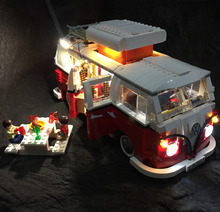 Updated LED light with picnic table for lego 10220  and Lepin 21001 Creator Expert  T1 Camper Van Blocks Bricks Toys Set