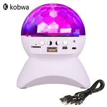 LED Crystal Ball Auto Rotating Stage Lights Bluetooth Speakers Portable Disco Ball Lights Speakers Loudspeakers RGB Color Player(China)