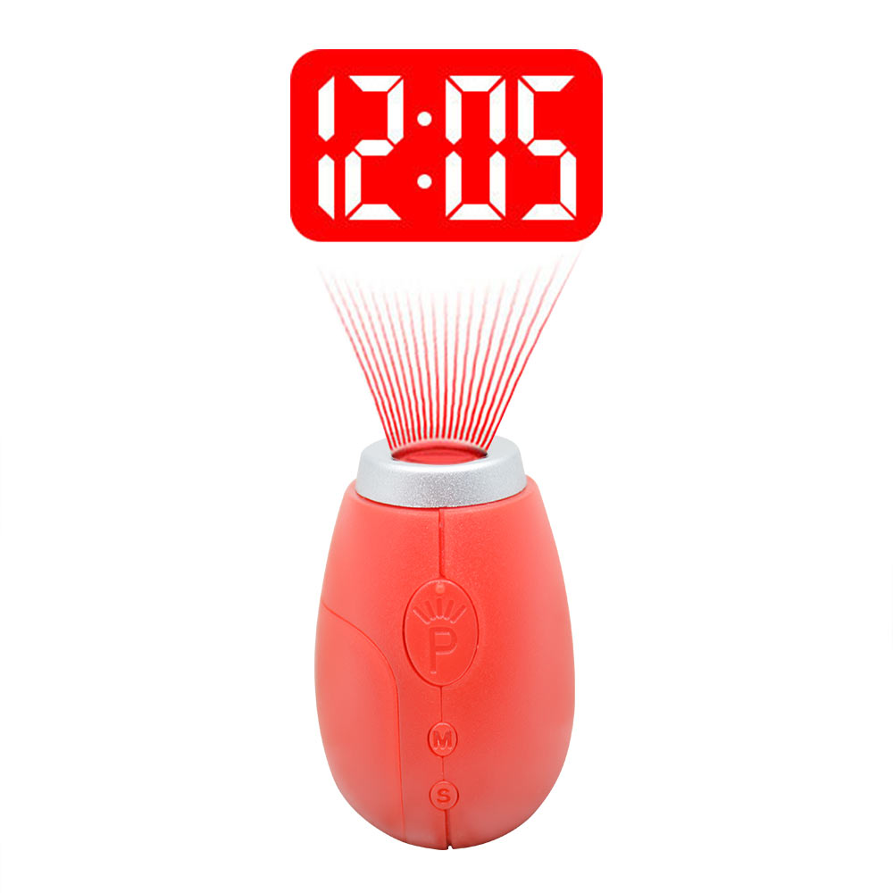* Digital Projection Clock LED Portable Clocks Mini Clock With Time Projection Digital Watch Night Light Magic Projector cloc(China)