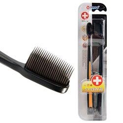 2 шт./упак. черная бамбуковая зубная щетка эко удобная щетка зуб Brosse зубцы Мягкая зубная щетка из древесного угля нано зубная щетка для взрос...