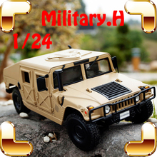 Christmas Gift Military Truck 1/18 Model Metal Car Large Collection Vehicle Alloy Diecast Jeep Toys Decoration Static Present
