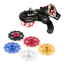 1 Set Mountain Bikes Road Bicycle Rear Derailleur Aluminum Alloy Guide Roller 11 Gear Jockey Wheel Part Accessory
