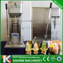 Commercial table model 80L/H 930ml mixing bowl capacity frozen yogurt blending machine real fruit ice cream mixer for sale(China)