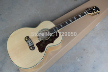 Chinese Factory Custom Nature Solid Spruce Top Tiger Flame Maple Side & Back J 200 with Fishman Pickup Acoustic Electric Guitar