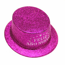 very nice flat top gold glitter hat unsex party