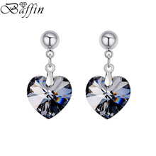 BAFFIN Drop Earrings For Women Fashion Original Crystal From SWAROVSKI  Heart Pendientes Mother's Day Gift