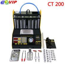 New arrival Autool CT200 220/110V 6/4 Cylinder Car Motorcycle Auto Ultrasonic Injector Cleaning Tester Machine