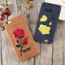 KISSCASE 3D Embridery Rose Flower Case For Samsung S8 / S8 Plus S7 Case For Huawei P9 P8 Lite Xiaomi Redmi 4 Pro Cases Cover