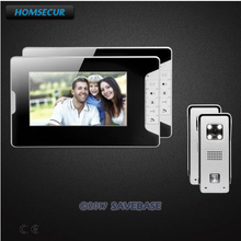 "HOMSECUR 7"" Video Door Phone Intercom System with One Button Unlock for Home Security(China)"
