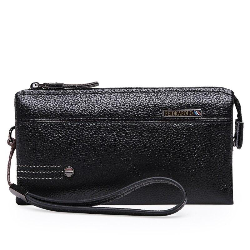 2017 men genuine leather wallets purse man clutch bolsa carteira bolsas masculina clutch brand wallet pochette<br><br>Aliexpress