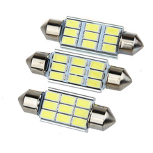 Super Bright 9 LED 5630 5730 SMD Festoon C5W CANBUS Auto Car Dome Door License plate Map Reading Light Bulb 12V 36/39/42mm