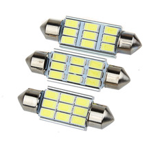 Super Bright 9 LED 5630 5730 SMD Festoon C5W CANBUS Auto Car Dome Door License plate Map Light Bulb 12V 36/39/42mm(China)