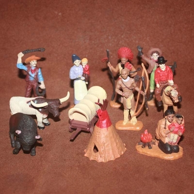 solid pvc figure SimulationThe simulation model toy Nomads model Cowboys Indians<br>