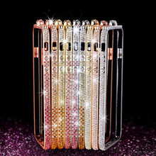 Buy Luxury Bling Diamond Bumper Apple iphone 7 7Plus Metal Case Colorful Crystal Cover Handmade Gradient Rhinestone Frame for $8.30 in AliExpress store