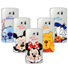Mickey Minnie Case For Samsung Galaxy Grand Prime S3 S5 S6 S7 Edge S8 Plus J2 J3 J5 J7 A3 A5 2016 2015 2017 Cover Note 8(China)