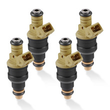 4pcs Yellow Fuel Injectors for Ford Cars & Trucks 4.6 5.0 5.4 5.8 Fuel Nozzles Auto Engine Replace Spare Part