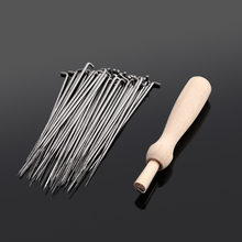 60Pcs Hot New Useful Practical Felting Needles Pin Tools Of Felt Of Wool Pins + Wooden Handle Sewing Tools(China)