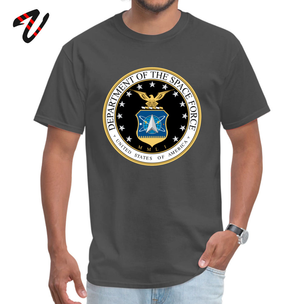 Prevailing Male Tops & Tees Space Force Crazy T Shirt Pure Cotton Short Sleeve Personalized Tops Tees Crew Neck Space Force17903 carbon