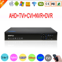 Blue-Ray Hi3521A 1080P Surveillance Camera 16 Channel 16CH 5 in 1 Wifi Hybrid Coaxial Onvif NVR CVI TVi AHD DVR Free shipping(China)