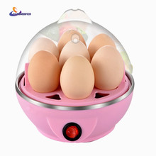 YJ HUMIDIFIER Multi Function Rapid Electric Egg Cooker 7 Eggs Capacity Fast Egg Boiler Steamer Automatic Shut Off