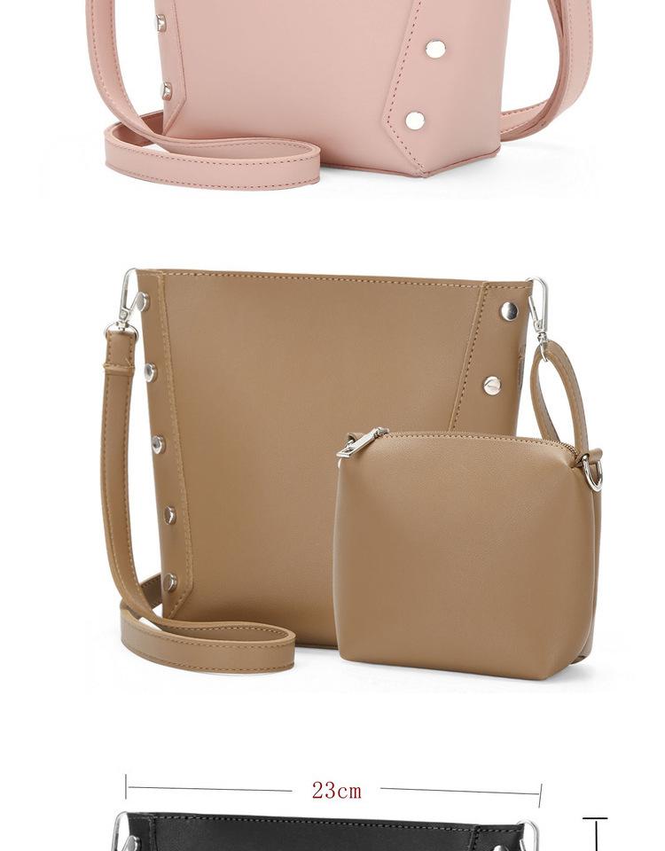 SUNNY SHOP 2017 New Korean Rivets Bucket Women Shoulder Bags PU ...