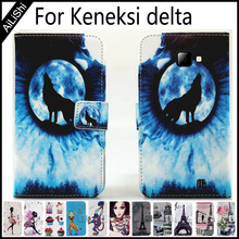 AiLiShi Painted Leather Case For Keneksi delta Flip Protective PU Cover Wallet With Card Slots delta Keneksi Case