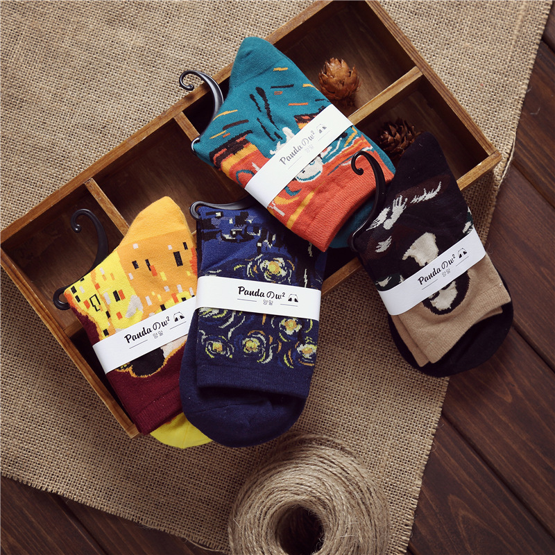 10Pairs/Lot Autumn peas invisible hot casual socks Non Slip Socks Plaid cool color collocation