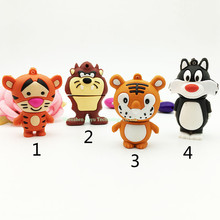 Full capacity pendrive 8gb Bugs Bunny usb flash drive 64gb memory stick 16gb flash card 4gb lion usb flash disk 32g drives tiger
