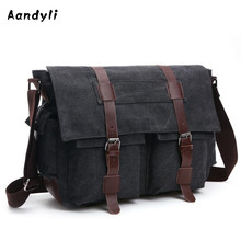 Large capacity Men's Crossbody Bag Laptop Men bags Canvas Shoulder bag Men Messenger Bag 8168