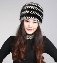 fur russian cap women's winter warm cap of natural mink fur. fashion Black Brown White Red luxury beanies Wholesale H313(China)