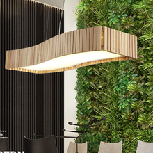 Nordic LED Wood Pendant Lights Fixture Home Indoor Dining Room Bedroom Foyer Hanging Lamps Restaurant Cafes Bar Shops Droplights