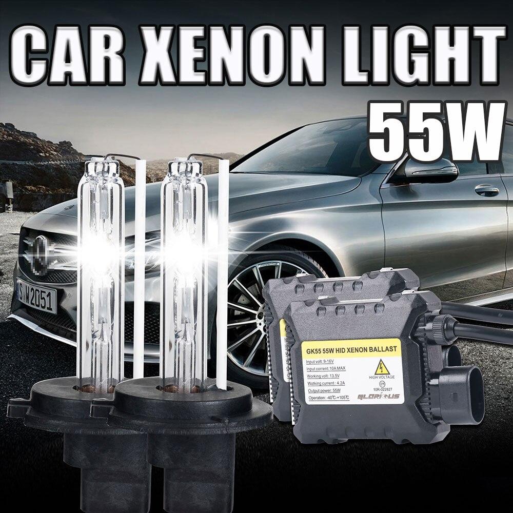 xenon H7 55W Car Headlights H1 H3 H4 H7 H11 9005 9006 881 D2H  Auto Front Bulb Auto Headlamp Car Lighting<br><br>Aliexpress