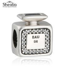 SHEALIA Signature Scent Perfume Bottle Charms Bead 925 Sterling Silver Beads For Jewelry Making DIY Charm Bracelets Accessories
