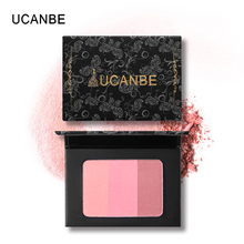 UCANBE Brand 3 In 1 Mineral Blush Makeup Palette Face Cheek Blusher Shading Pressed Powder Contour Natural Long Lasting Cosmetic(China)