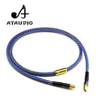 ATAUDIO Silver-plated Hifi usb Cable High Quality 6N OFC Type A-B DAC Data USB Cable(China)